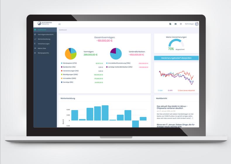 Das KundenServiceCenter - die digitale Übersicht für alle Versicherungen